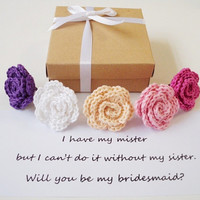 Will you be my bridesmaid gift box Bridesmaid proposal Maid of Honor Flower girl invitation Matron of Honor Bridal party proposal ideas
