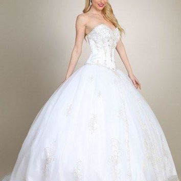 Gorgeous Strapless Ballgown Wedding Dress MT172