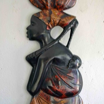 African Art, African American Art, Mother Africa, Wood Carvings, Afrocentric Art, Tribal Art, African Woman, Ethnic Art