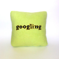 Geek pillow green googling