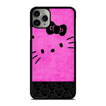 HELLO KITTY PINK BLACK iPhone Case