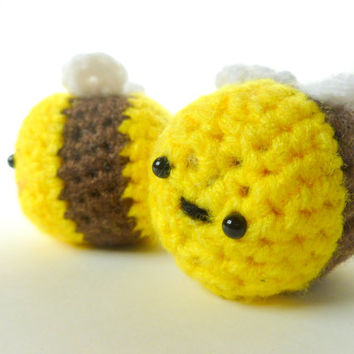 "Cute Amigurumi Bee 1.5""' Crochet Plush"