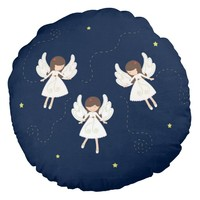 Christmas angels round pillow