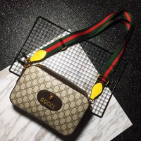Gucci Popular Women Leather Zipper Shopping Crossbody Shoulder Bag