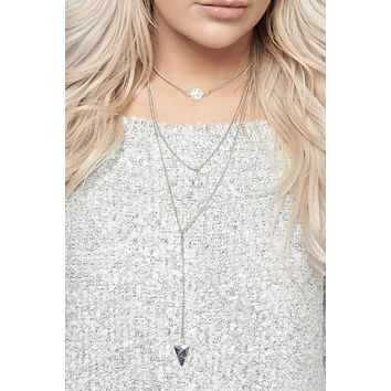 Kensey Multi Layer Necklace (White)