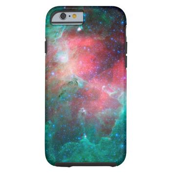 Beautiful Red Green Nebula Tough iPhone 6 Case