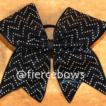 Rhinestone Chevron Cheer Bow