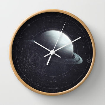 Space Sound Waves Wall Clock by DuckyB (Brandi)