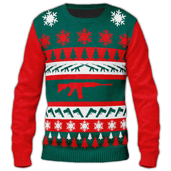 Ugly Christmas Gun Sweater