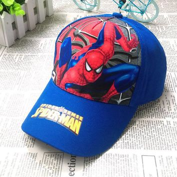 Spiderman & Captain america Children adjustable print Cotton Cap kids Boy Girl Hip Hop sun Hat cosplay accessary