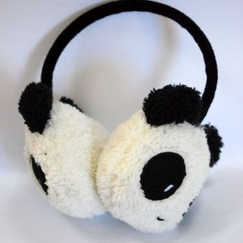 niceEshop(TM) Winter Cute Panda Earmuff Ear Muff Warmer,White