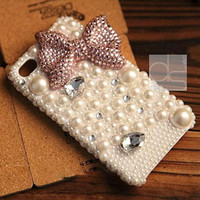 Bling iPhone 5 Case iPhone 5S Case iPhone 4 Case iPhone 4S Case for iPhone 5C Case iPhone 3G Case iPhone 3 Case iPhone 3GS Case Pink Ribbon