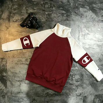 Champion Embroidery Print Sweater Sweater Wine red I-JJ-LHYCWM