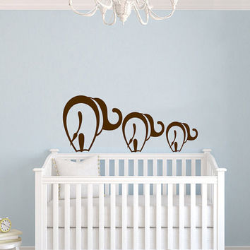 Mom and Baby Elephant Animal Wall Vinyl Decal Sticker Children Boy Girl Kids Baby Room Nursery Design Interior Decor Bedroom SV4545