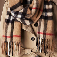Heritage Check Cashmere Scarf