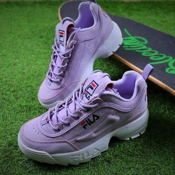 Fila Disruptor Ii 2 Purple Sport Running Shoes Sneaker Fw0165-029 - Beauty Ticks