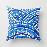 Blue Moon Throw Pillow by PeriwinklePeacoat