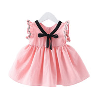Summer 2017 Baby Girl Dress Cotton Infant Dress Korean Style Sleeveless Toddler Dress Birthday Baby Clothes Vestido Infantil