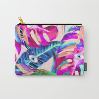Eyes Tropical Pattern Carry-All Pouch by lostanaw