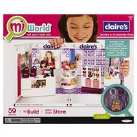 miWorld Deluxe Claires Jewelry and Accessories Store Environment Set 59 pieces