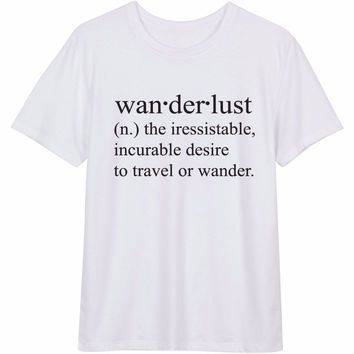 Wanderlust Definition Women's Short Sleeve Casual T-Shirt