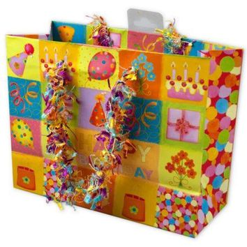 Small Happy Birthday Giftbag with Confetti Handles (Available in a pack of 24)