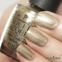 OPI Nail Polish (Z19 - Glitzerland) Swiss Collection NEW GOLD SHIMMER
