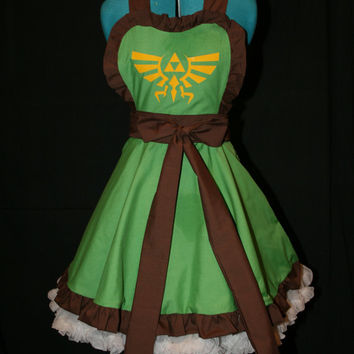 Legend of Zelda Link Inspired Apron Pinafore Cosplay