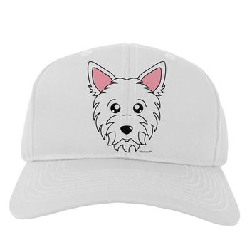 Cute West Highland White Terrier Westie Dog Adult Baseball Cap Hat by TooLoud