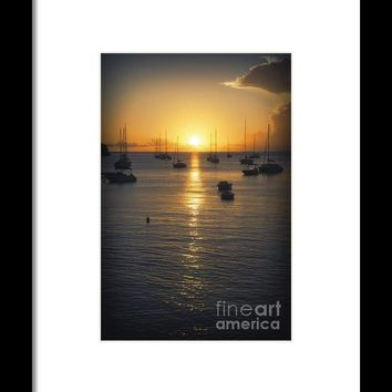 Sea Sunset Waves Framed Print By Konstantin Sevostyanov
