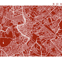 Rome Map Art - More sizes and colors available