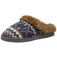 Muk Luks Womens Nordic Malred Faux Fur Clog Slippers