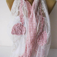 Lace scarf-Fashion Shawls - gift Ideas For Her Women's Scarves-christmas gift- for her -Fashion accessories