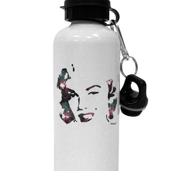 Marilyn Monroe Galaxy Design and Quote Aluminum 600ml Water Bottle by TooLoud