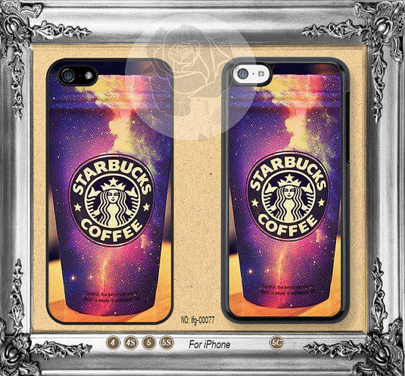 galaxy iphone 5s case starbucks galaxy iphone 5s iphone from crazygift on etsy 4785