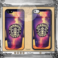 Starbucks Galaxy iPhone 5s case, iPhone 5C Case iPhone 5 case, iPhone 4 Case Starbucks iPhone case Phone case ifg-00077