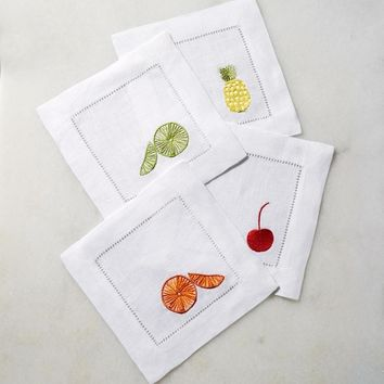 Frutta Cocktail Napkin by Sferra
