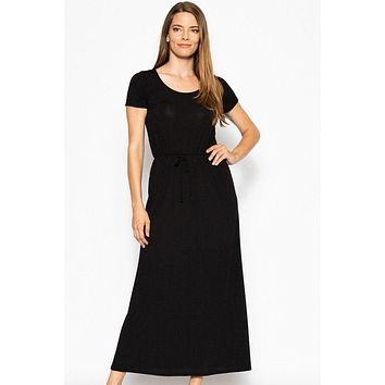 Women's Casual Fashion Dresses Modest Style Dress Short Sleeved Maxi Dress