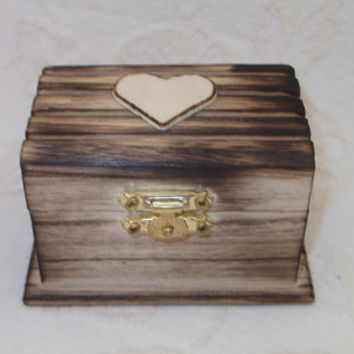 Rustic Wood Burned Personalized Ring bearer Box Barn Wedding Rustic Wedding Country Wedding