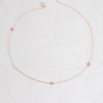 Dainty Daisy 14K Strand Necklace