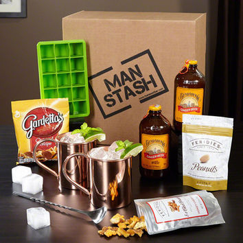 Speakeasy Cocktail Lover Man Stash Gift Boxed Set