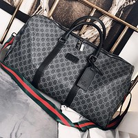 GUCCI Fashion New More Letter  Leather Luggage Shopping Leisure Handbag Shoulder Bag Crossbody Bag Black