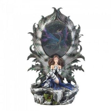 Fairy And Dragon Lighted Figurine (pack of 1 EA)