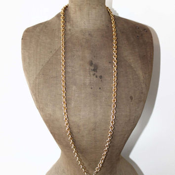 Vintage Napier Necklace - Chunky Gold Chain Tassel Necklace