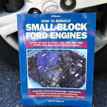 Ford Car Repair Manual How to Rebuild Small Block Ford Engines Detailed Guide with Photos Charts and Diagrams Vintage Car Book Gift for Him