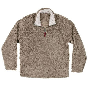 Appalachian Pile Pullover 1/4 Zip in Light Brown by Southern Marsh