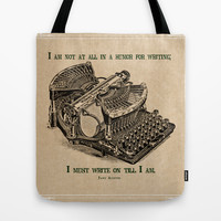 I Must Write On Tote Bag by MooreZart