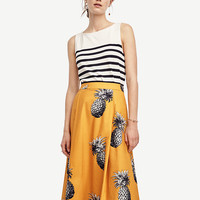 Tall Pineapple Maxi Skirt | Ann Taylor