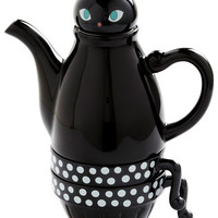 ModCloth Cats Paw Me a Cup Tea Set in Cat