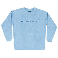 Sunday Morning Sweater in French Blue by Southern Marsh - FINAL SALE